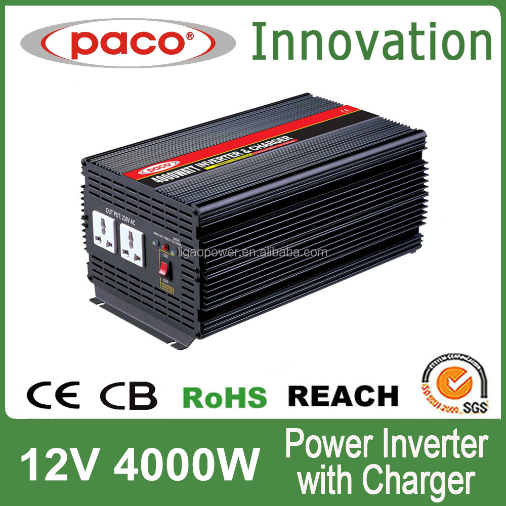 Automobile Solar inverter with charger 4kva 230volt for 12v/24v