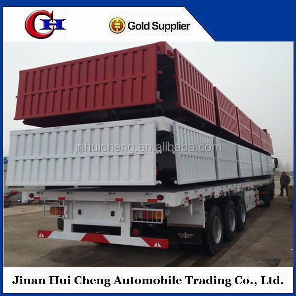 3 Axles 60Tons Side Wall Cargo Semi Trailer ,Side Panels Detachable