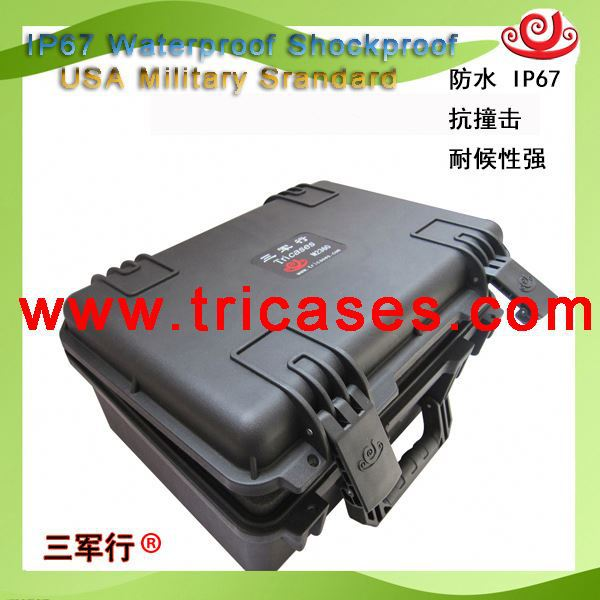Tricases portable gun box Type M2360 injection molded carrying box fish hunting equipment
