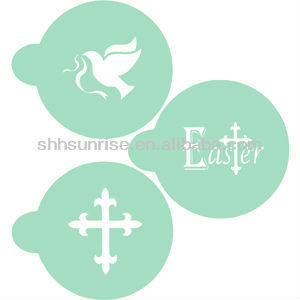 Easter metal Cappuccino coffee stencil set/ cookie stencil