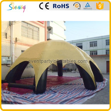 China manufacture yellow inflatable canopy tent outdoor