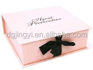 Pink luxury cosmetic packaging gift box/paper cosmetic gift box