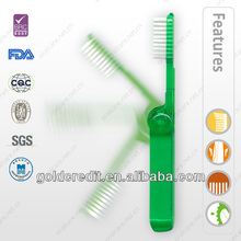 folded travel Toothbrushes