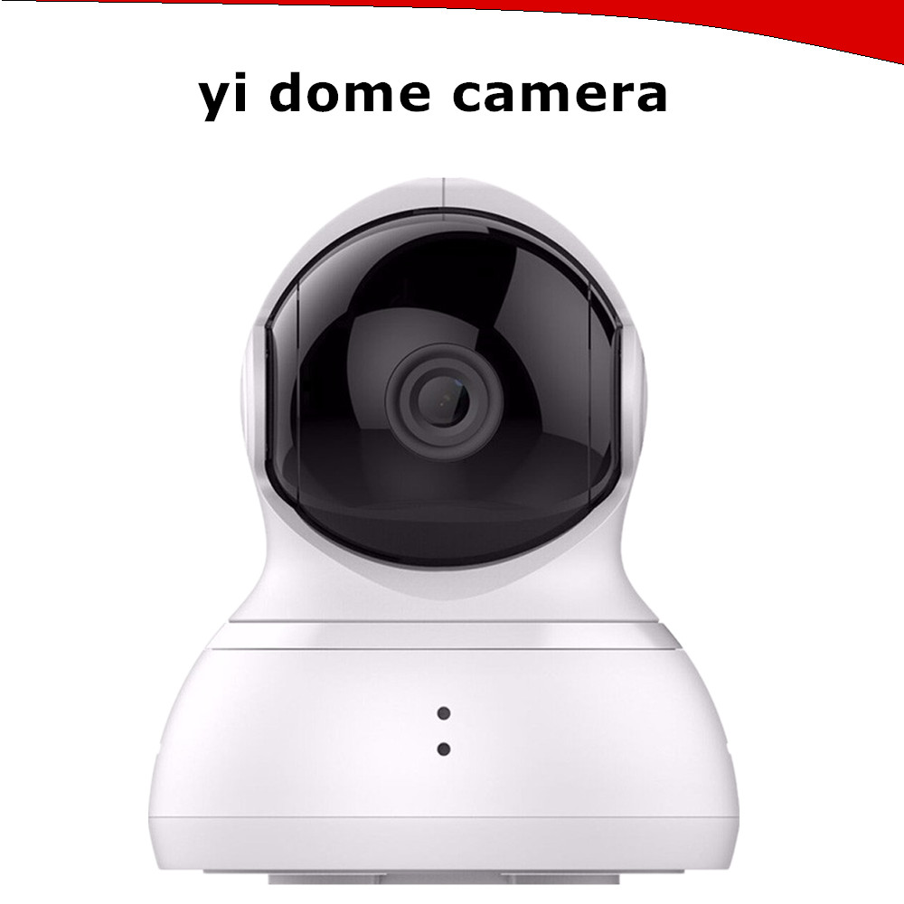 Original YI Dome Wireless 360 Degree Coverage Smart IP Camera 720P Pan Tilt for Home Security WHITE