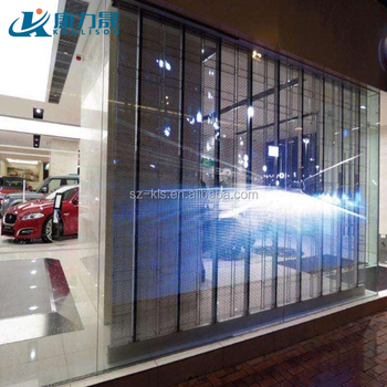 P7.81 mm SMD 3535 LED chip lightweight Transparent Led Screen best price