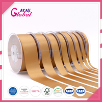 Good Quality Brown colour Single/Double face Polyester Satin Ribbon