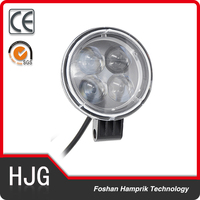 12W round LED Work Light Off Road High Power ATV Tractor Truck flood Light