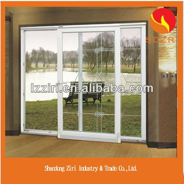aluminum alloy top hung window with glass panel