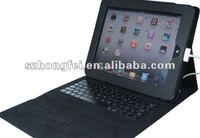 for iPad2 Leather Case with Keyboard -(BLACK)