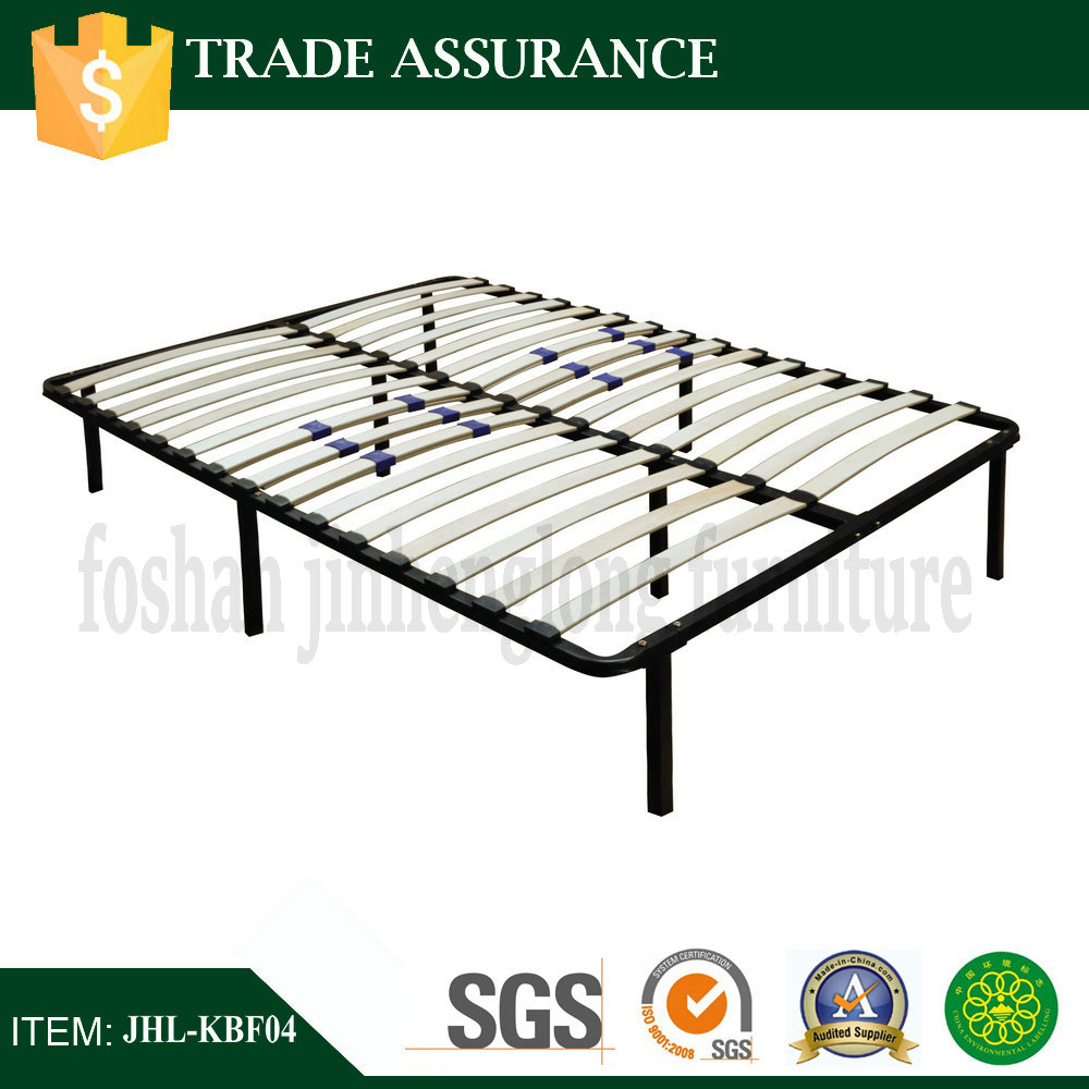 Wood Slat Metal Bed Frame with Adjustable Lumbar Support