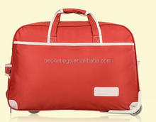 Popular waterproof oxford fancy trolley travel luggage bag