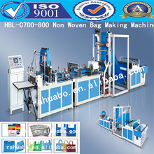 China High speed low price auto non woven bag machine non-woven fabrics zipper bag making machine