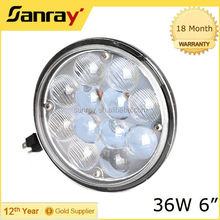 Hot sell 5.5inch led work light 4D 36w led driving light round led headlight