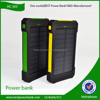 HC-S03 china hot sell product mobile phone solar power bank charger 10000mah