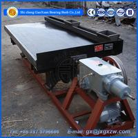 High recovery ratio gold separating machine mining shake table