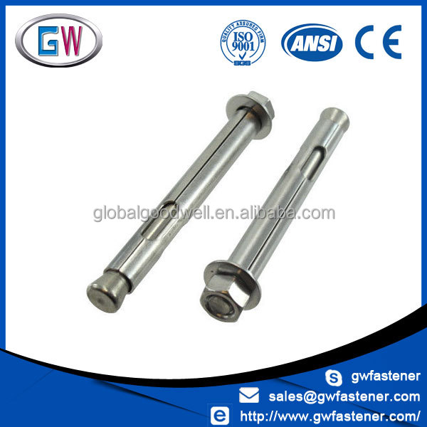 304 stainless steel m20 m16 m12 m10 m8 sleeve hex anchor