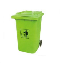 120/240L mobile plastic dustbin eco-friendly trash can plastic waste bin