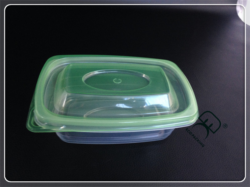 Plastic PET round transparent 1000ml salad container
