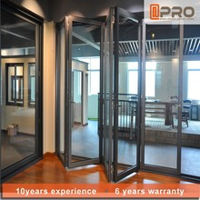 Australia standard aluminium sliding folding doors with double glass