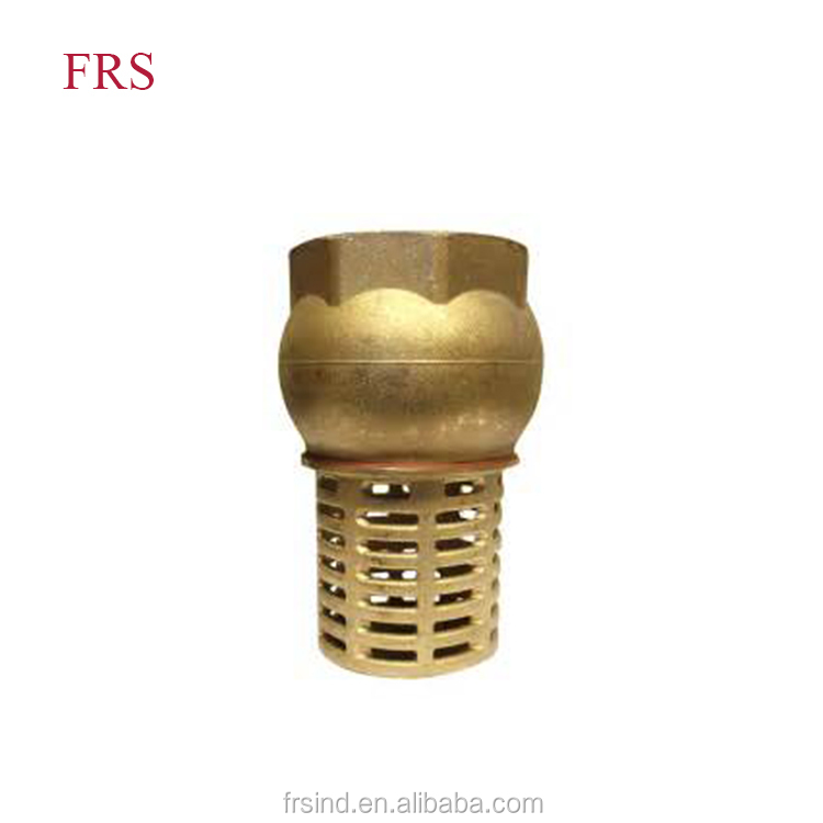 China Supplier Non-return Brass Check Valve Water Pump Foot Valve With Filter With Price List