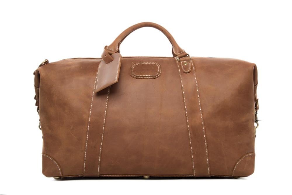 2016 Antique Custom Wholesale Top Grain Genuine Leather MensTravel Duffle Bag Holdall Luggage for Overnight Weekender   (4).jpg