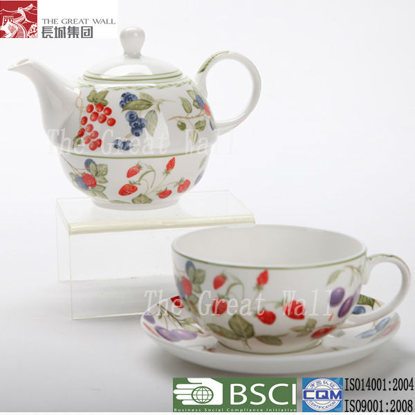 2012 ceramic tea for one person tea set