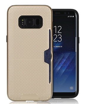 Bumper stylish knitted case for Galaxy S8 Plus with credit card holder