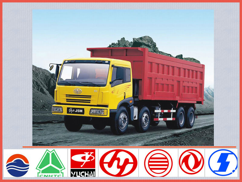 China brand new FAW J5 50ton 12-wheel dump truck sale,sand dump truck for sale