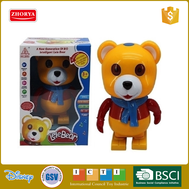 Lovely new Plastic Electric toys dance bear animals with light & musical for kids gifts