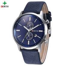 Hot sale!!! low MOQ North waterproof 30 meter stainless steel Business relojes Quartz luxury men watch for promotion