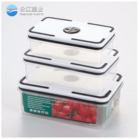 enamel metal pet food storage containers food grade pp plastic food container airtight rectangle storage container