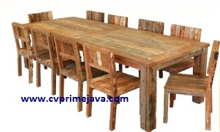 BOAT WOOD FURNITURE DINING TABLE BWD03