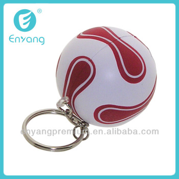 New Popular Cheap OEM Customized Football Metal Ring Keychain with High Quality
