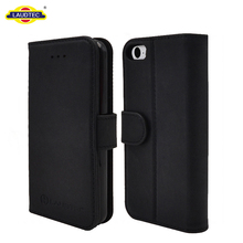 Genuine Leather Flip Wallet Stand Holer Cover Case for iphone 5