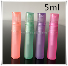 5ml colorful perfume pen/pp spray bottle