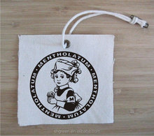 Organic cotton swing tags/garment labels/printing hangtag