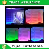 customized led light inflatable photo booth cube tent for sale