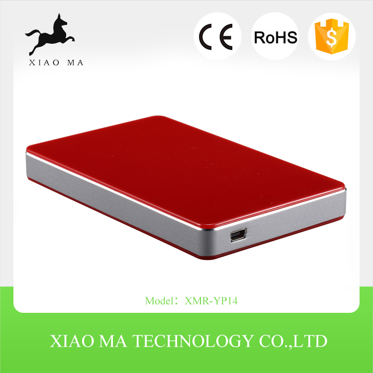 High Quality Aluminum Alloy 2.5 Inch USB 3.0 To SATA External HDD Enclosure 1TB Hard Drive Case XMR-YP14