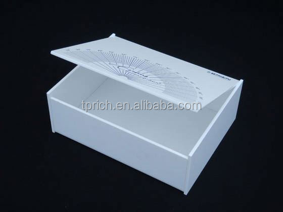 new design TSD-A688 shop hotel restaurant retail counter top acrylic box/ clear acrylic paper box