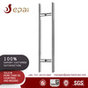 Commercial building stainless steel door handle for frameless glass door