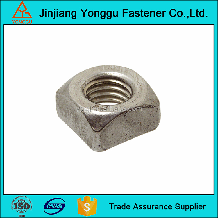 china supply zinc plated ansi b18.10 square nuts for track bolts
