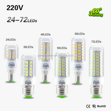 E27 LED lamp SMD 5730 220V Replace 7W 12W 15W 20W 25W Fluorescent Light LED Corn Bulb light Chandelier Candle Lighting