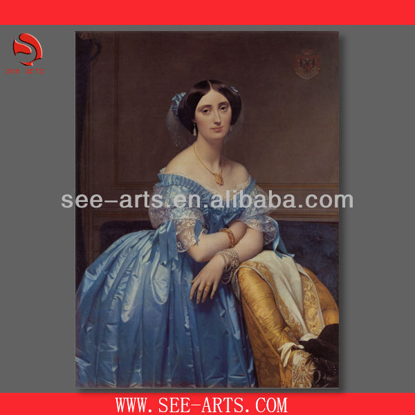 Hand made reproduction oil painting of Jean Auguste DominiqueIngres