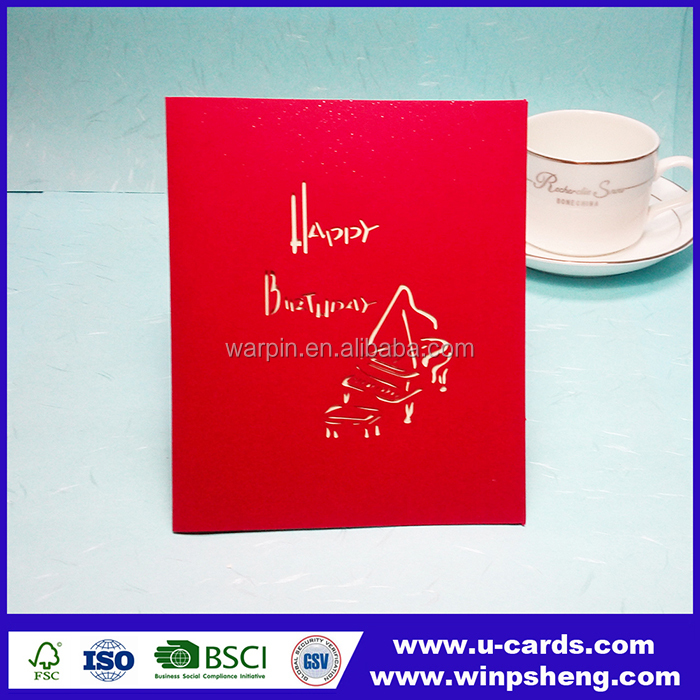 Handmade 3d christmas decoration greeting card