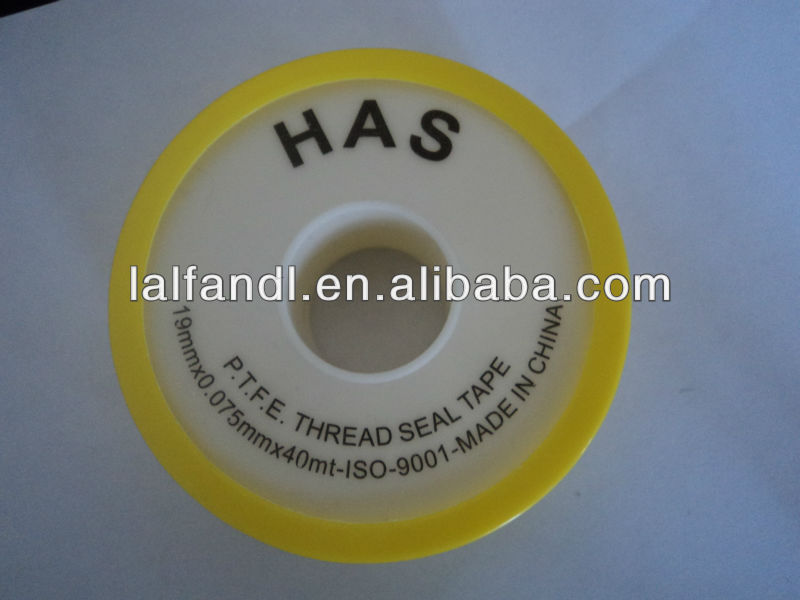 HAS brand ptfe thread seal tape for high quality with white spool and yellow cap