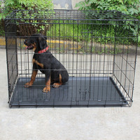 Hot sale high quality large steel folding dog cage