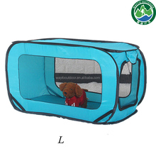 outdoor play for cat&dog 1 second open steel wire low price pop up portable pet tent