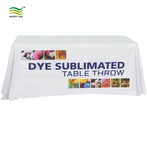 Custom DIgital Printed Rectangle Table Cloth for Trade Show or Events