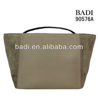 2013 hot selling latest style fashionable fake suede leather ladies casual handbags women bags