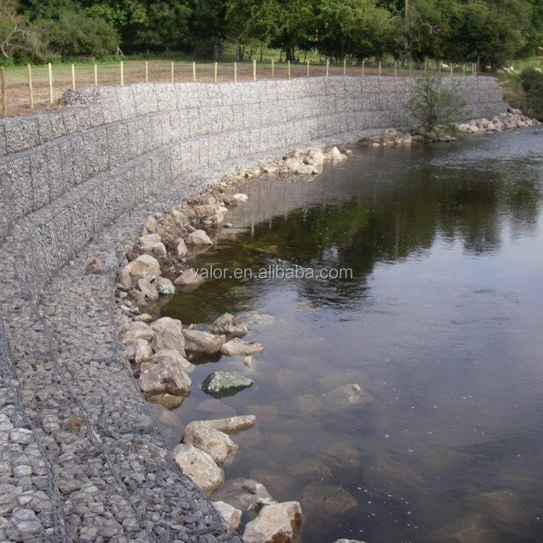 Protecting slope welded gabion box/stone cages/wire mesh 0.25mm diameter
